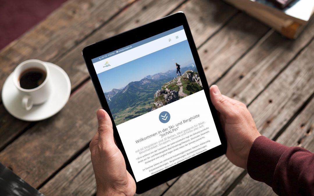 JochALPin Hütte mit neuer Homepage